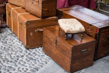 Old trunks and chests