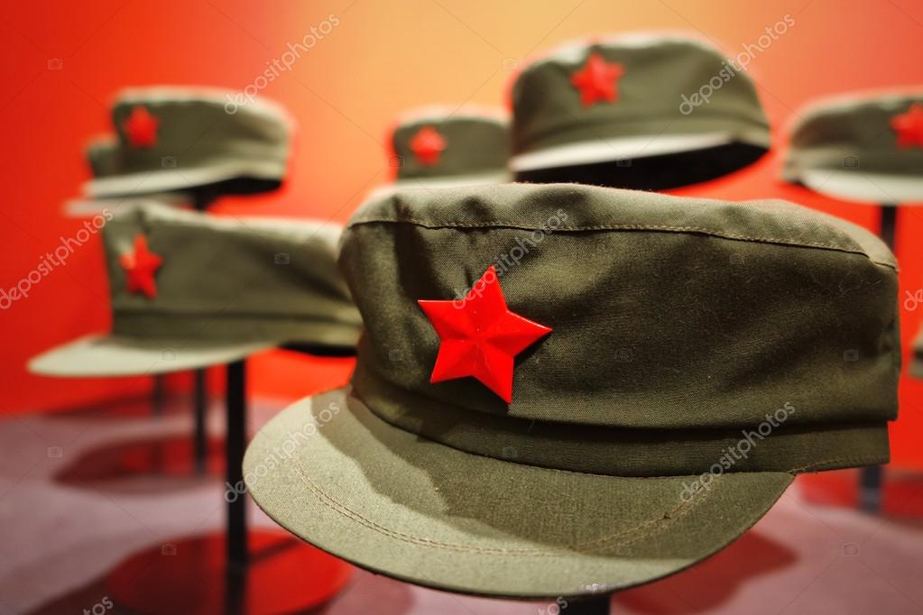 b2c1659e026 Red army partisan hat — Stock Photo © vpardi  54165409
