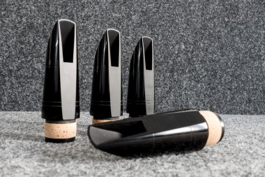 Black clarinet mouthpieces