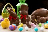 Fotografie Chocolate Easter bunnies