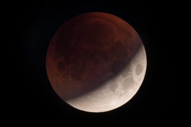 Lunar eclipse red moon