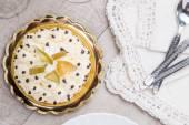 Cake with white cream