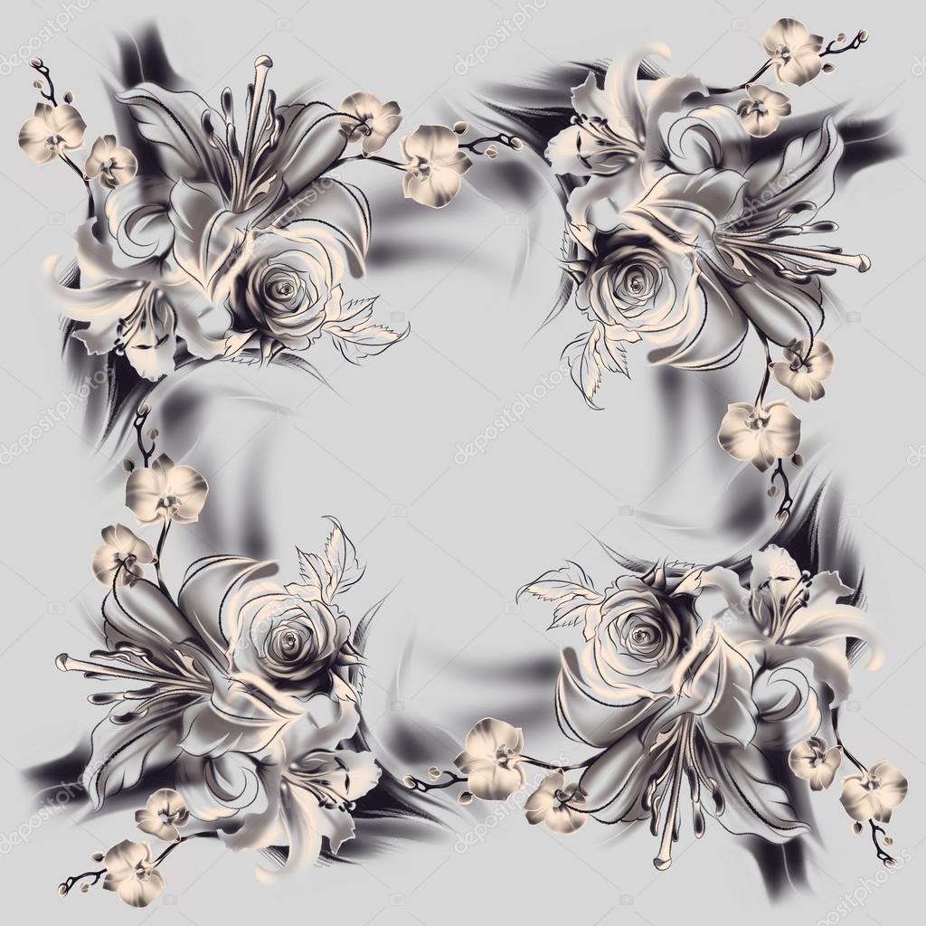 Blumen Bleistiftzeichnung Stockfoto Allween 61176405