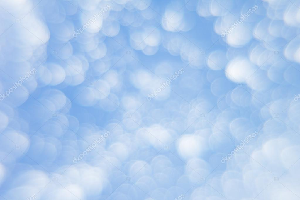 Abstract soft light blue background with blurred circles  Small