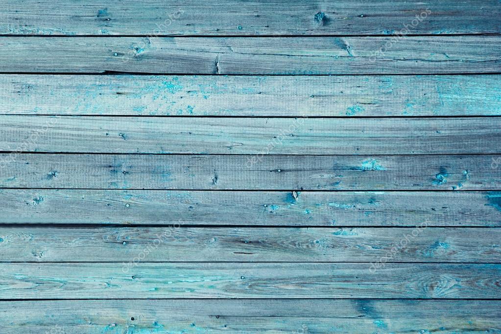 Wooden Desk With Blue Background ~ Fondo madera vintage azul viejo habían resistido junta