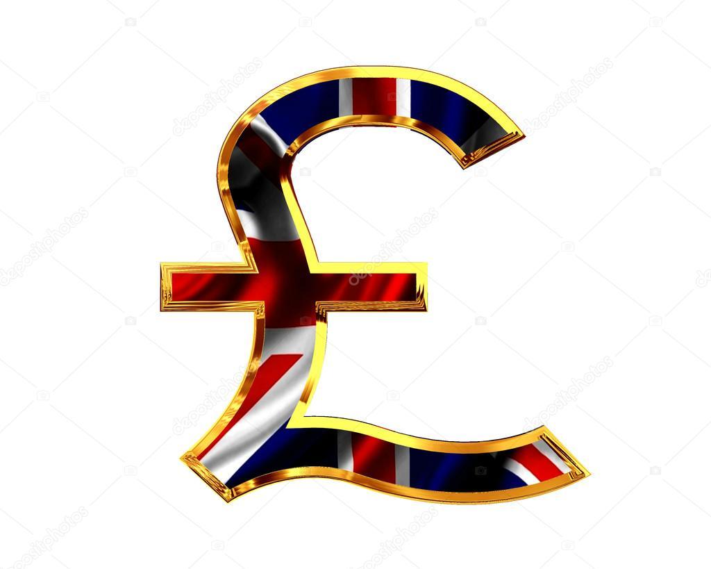Symbole De La Livre Sterling Sur Fond Blanc Photographie