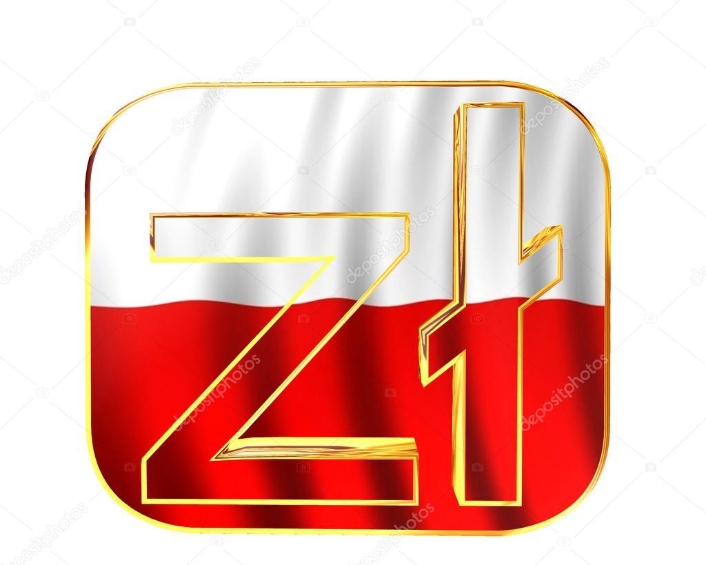 Zodiac Symbol Polish Zloty On White Background Stock Photo
