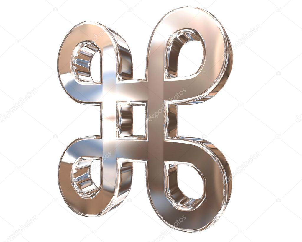 Symbol attraction in Unicode table on a white background
