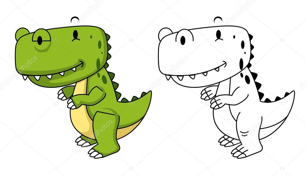 Craneo de dinosaurio para colorear | Ilustración de libro educativo ...