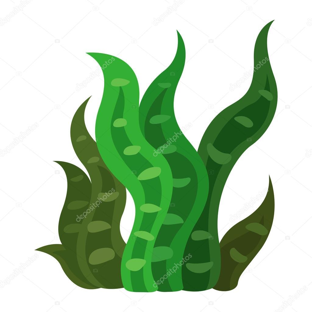 seaweed vector stock vector jehsomwang 56127403 rh depositphotos com seaweed vector illustration Seaweed Silhouette Vector