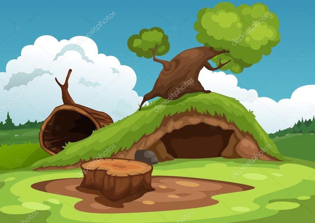 beautiful landscape background vector