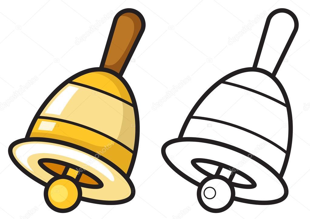 Dibujos: campanas de iglesia para colorear | Campana color y blanco ...