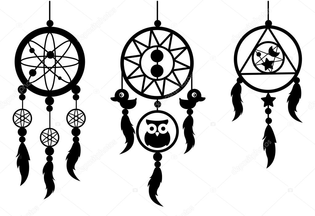 indian dream catcher vector stock vector jehsomwang 63630685 rh depositphotos com dreamcatcher victor idaho eclipse dream catcher vector art