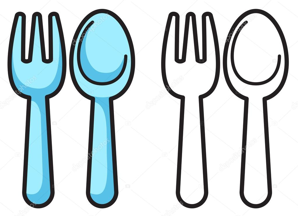 forks spoons coloring pages - photo#20