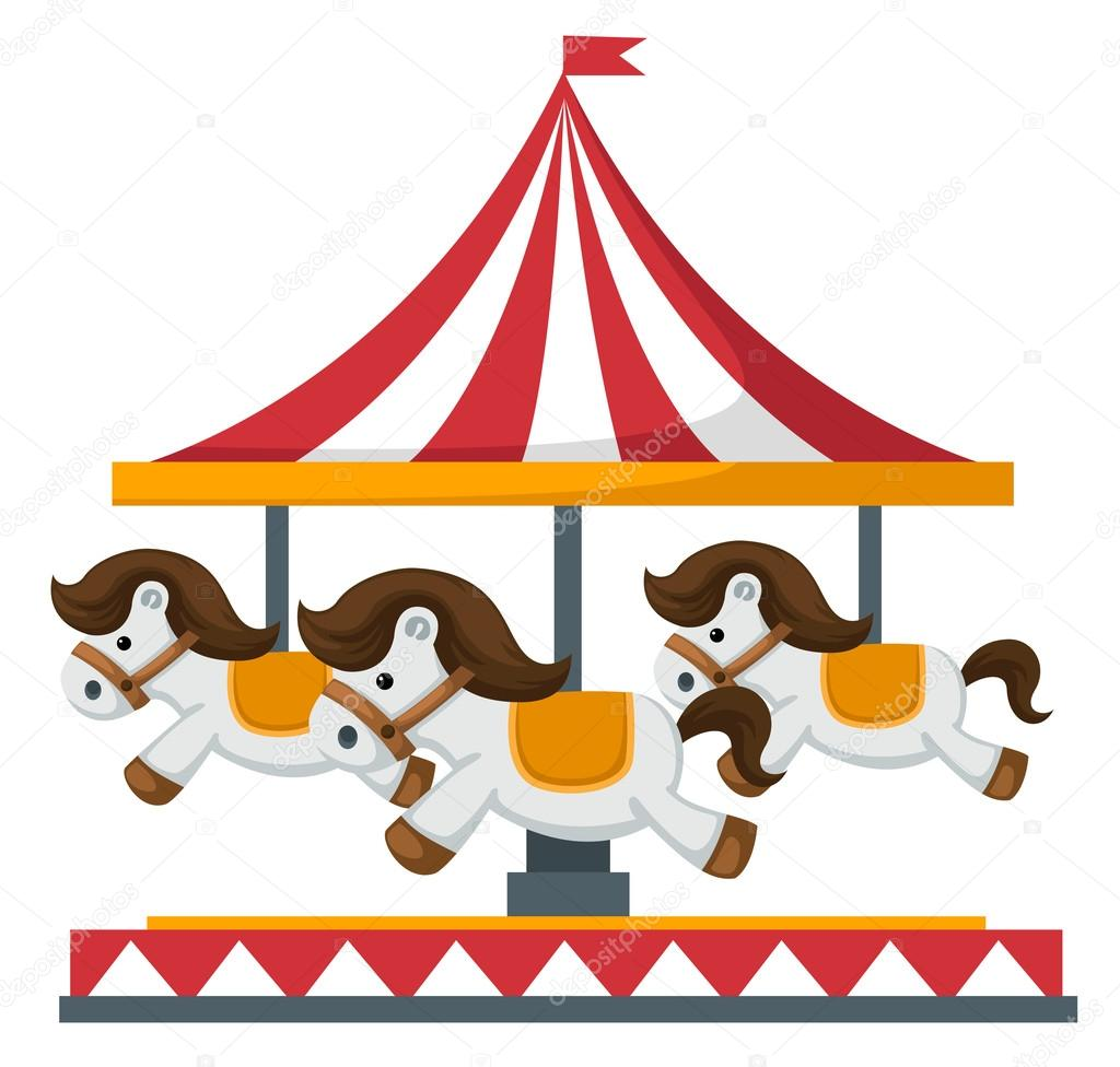 Vintage Merry Go Round Carousel Vector Stock Vector C Jehsomwang 64658317
