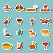 Fotografie Mexiko-Icons Vektor