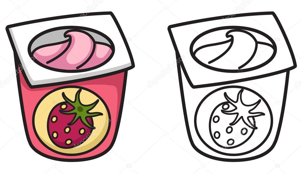 Раскраска йогурт для детей