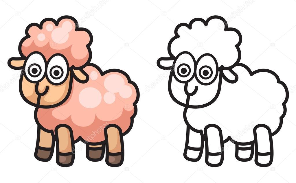 Imágenes: ovejitas para colorear | colores y blancas y negro de ...