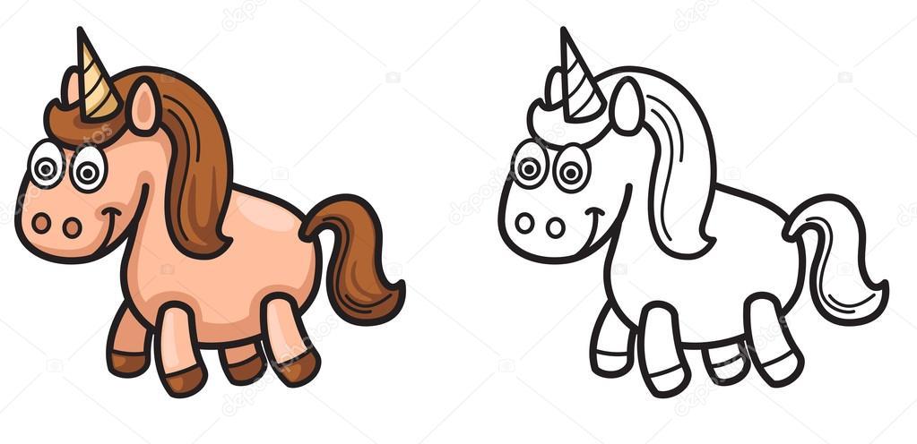 Unicornios en blanco y negro para colorear | Unicornio color y ...