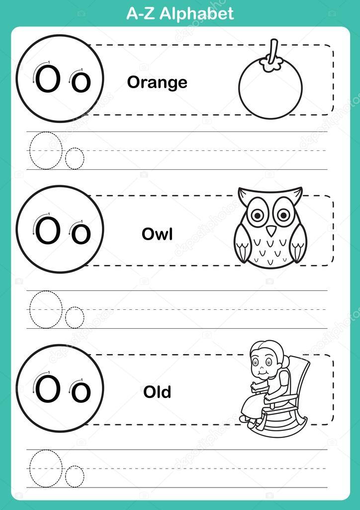 Animado: abecedario para colorear | Ejercicio de a-z del alfabeto ...