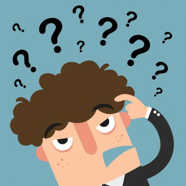 business thinking with question marks  vector