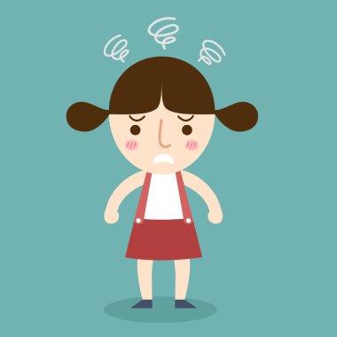 angry girl vector