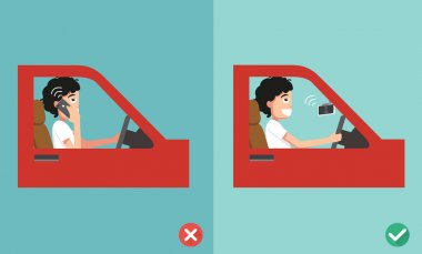 no cell phones - while driving