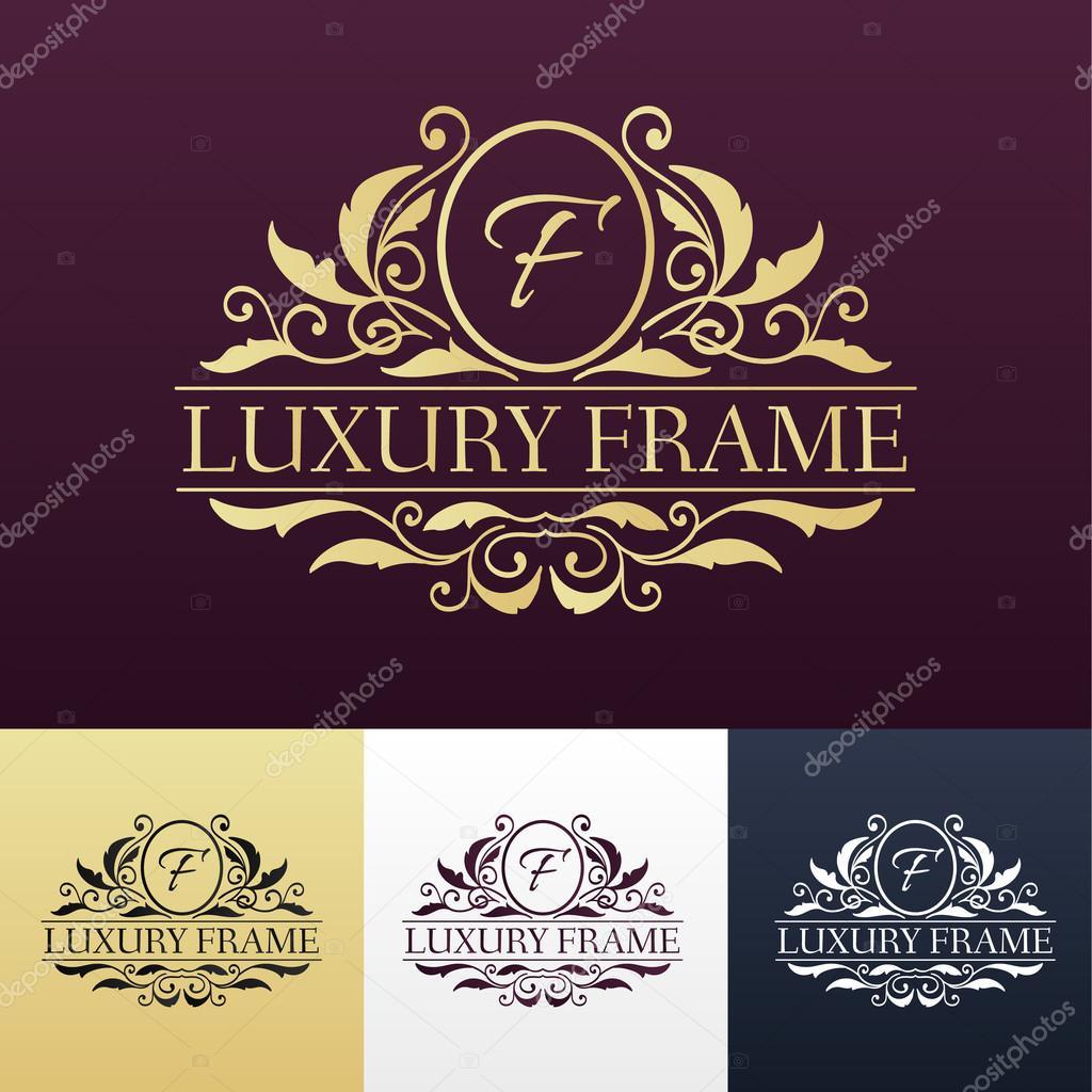 Etiqueta de lujo o rey colocar elemento símbolo con caligrafía ...