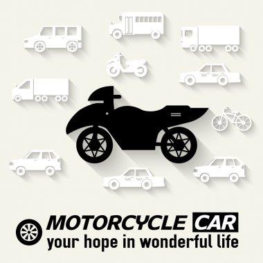 Flat bike background illustration concept
