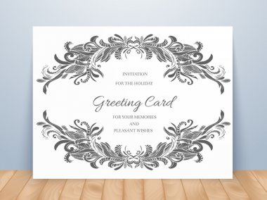 Templates of corporate Identity set with doodles abstract ornament. Vector illustration backgrounds concepts. Decorative retro greeting card or invitation design elements.