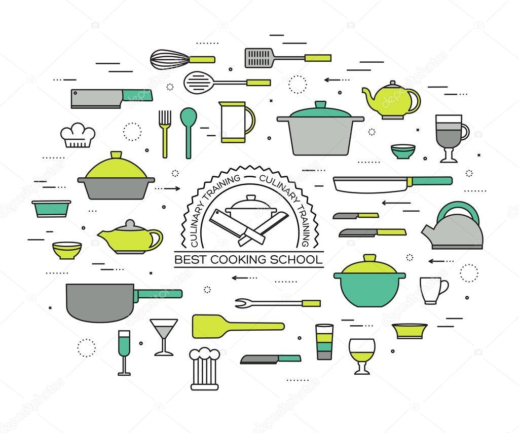 Küchentisch Im Haus Vektor-Illustration Für Das Web Und