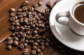 Fotografie Šálek kávy a fazole 8