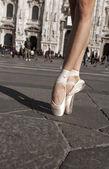 Tanečník boty v městě vertikální
