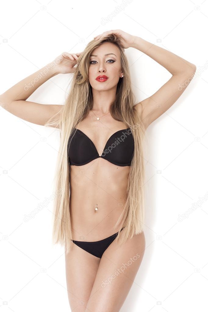 Horké černé sexy dívka