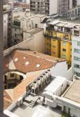 Fotografia Scorcio di paesaggio urbano di Milano dallalto