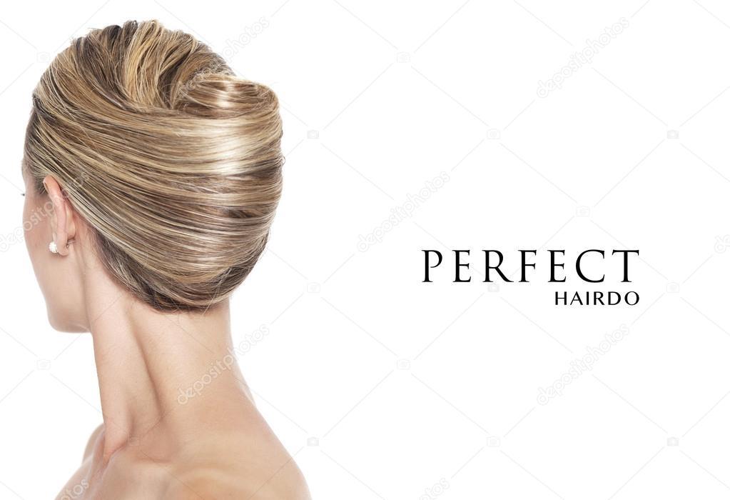 Banana Bun Perfect Hairdo Stock Photo Patronestaff 87687294