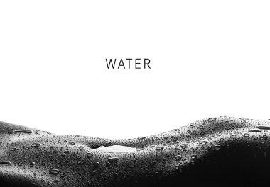 Water - drops on woman skin