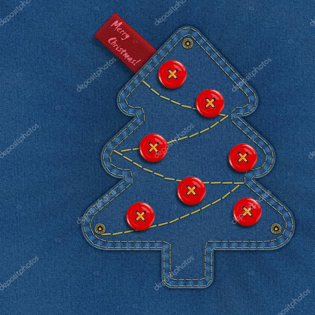 denim christmas tree — stock photo © beawolf #53884793