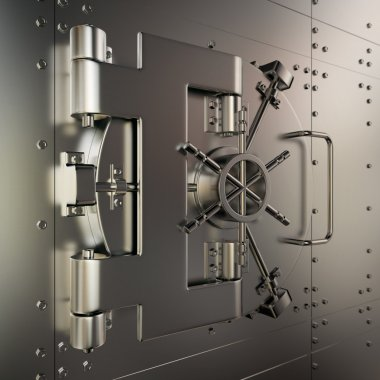 Closed bank vault