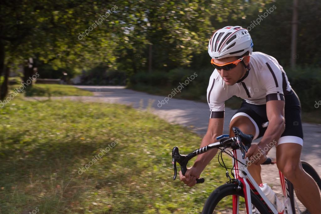 Man riding a bike