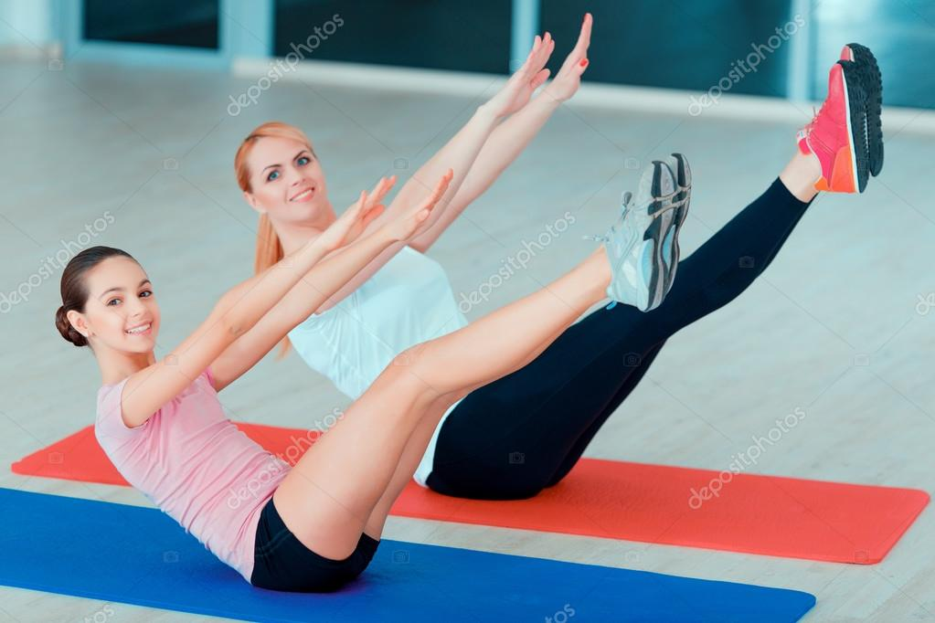 Mother And Teenage Girl At Sports Club Stock Photo C Yacobchuk1 68173097