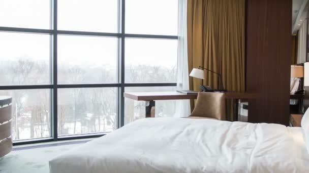 Hotelovém pokoji s krásným výhledem