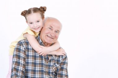 Grandfather with his grand daughter