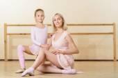 Baletní učitel s její malý učeň