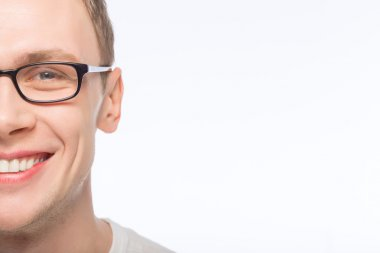 Handsome man wearing glasses.