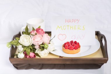 Festive sweet breakfast for mothers day