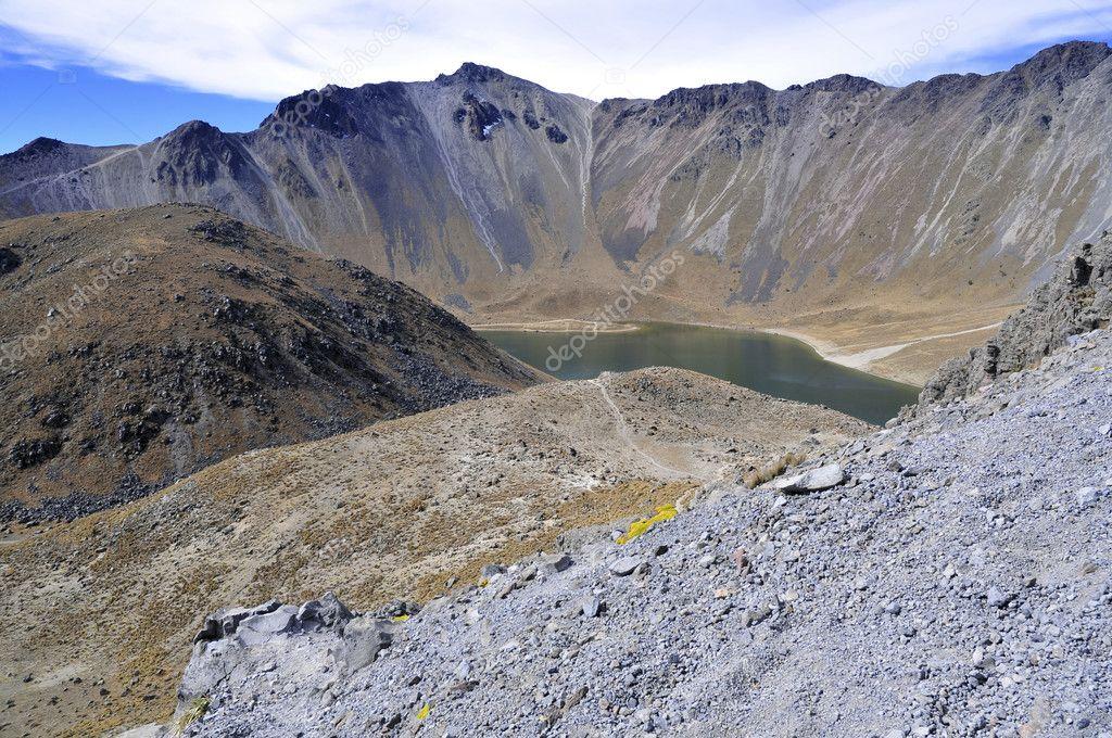 Nevado de Toluca volcano in the Trans-Mexican volcanic belt, Mexico