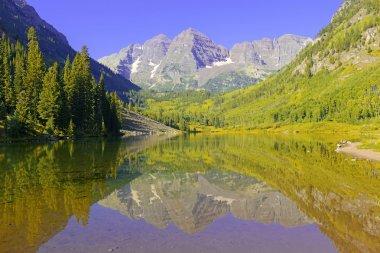 Maroon Bells, Elk Range, Rocky Mountains, Colorado