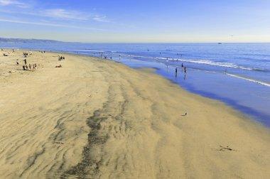 Beach scene in southern California, USA