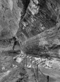 Fekete-fehér táj a Zion Nemzeti Park